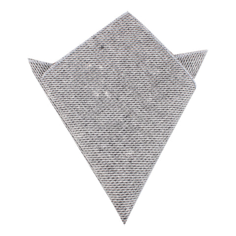 Dark Grey Tweed Linen Pocket Square