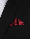 Dark Maroon Winged Puff Pocket Square Fold