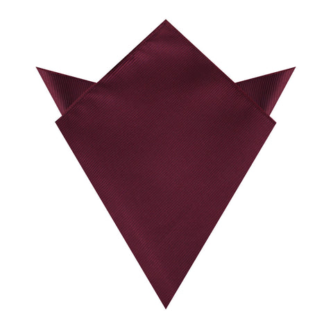 Dark Merlot Wine Twill Pocket Square
