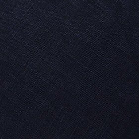 Dark Midnight Blue Linen Pocket Square