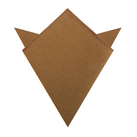 Dark Mustard Twill Linen Pocket Square