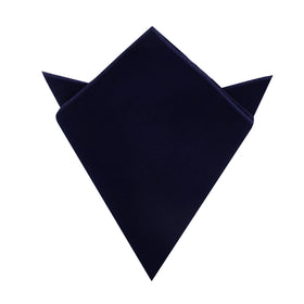 Dark Navy Blue Velvet Pocket Square