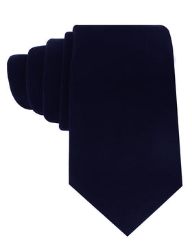 Dark Navy Blue Velvet Tie