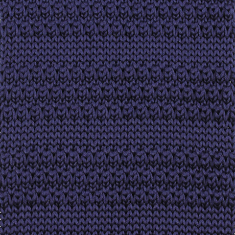 Dark Purple Knitted Tie