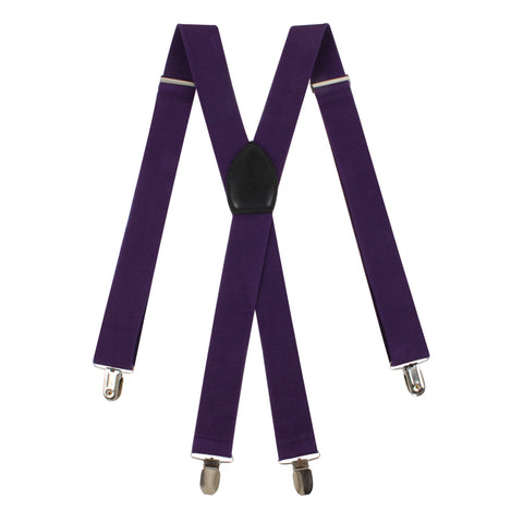 Dark Purple Suspender Braces