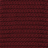 Dark Rosewood Maroon Pointed Knitted Tie Detail View