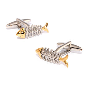 Dead Fish Skeleton Cufflinks