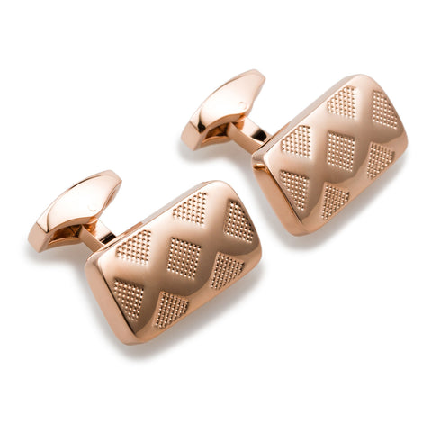 Deadly Viper Rose Gold Cufflinks