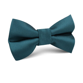 Deep Jade Satin Kids Bow Tie