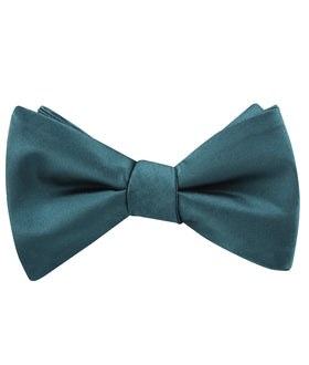 Deep Jade Satin Self Bow Tie