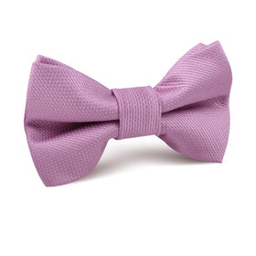 Deep Wisteria Purple Weave Kids Bow Tie
