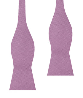 Deep Wisteria Purple Weave Self Bow Tie