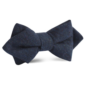 Deep Blue Cotswold Wool Diamond Bow Tie