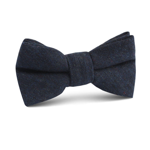 Deep Blue Cotswold Wool Kids Bow Tie