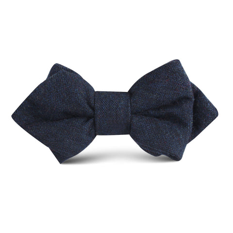 Deep Blue Cotswold Wool Kids Diamond Bow Tie