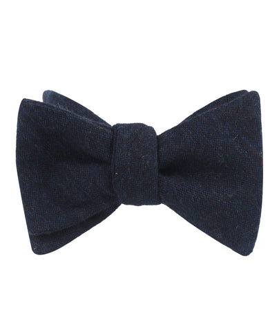 Deep Blue Cotswold Wool Self Bow Tie
