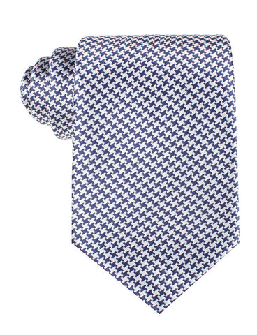 Deep Blue Houndstooth Tie