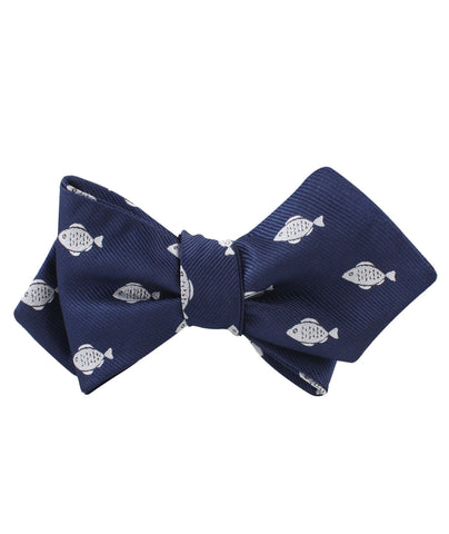 Deep Sea Fish Diamond Self Bow Tie