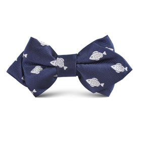 Deep Sea Fish Kids Diamond Bow Tie