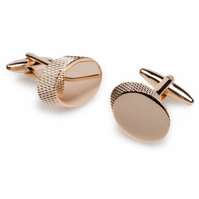 Dennis Price Rose Gold Cufflinks