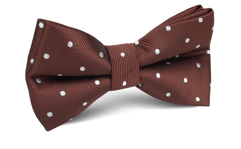 Desert Brown Polka Dots Bow Tie