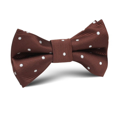 Desert Brown Polka Dots Kids Bow Tie