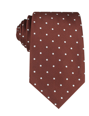 Desert Brown Polka Dots Necktie