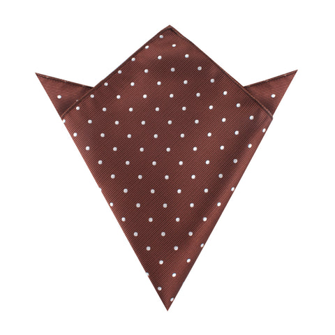 Desert Brown Polka Dots Pocket Square
