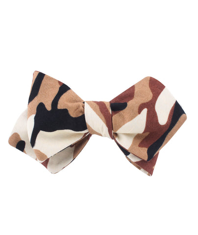 Desert Sand Camouflage Diamond Self Bow Tie