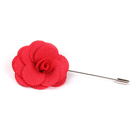 Diablo Red Lapel Flower Pin Front Boutonniere