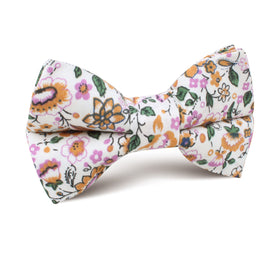 Diamond White Liberty Floral Kids Bow Tie
