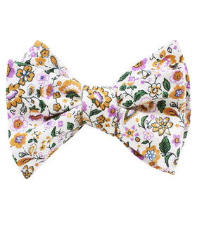 Diamond White Liberty Floral Self Bow Tie