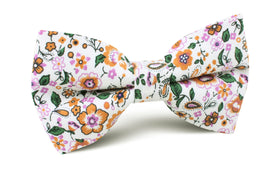 Diamond White Liberty Floral Bow Tie