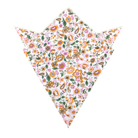 Diamond White Liberty Floral Pocket Square