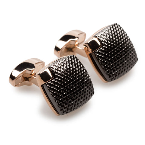 Dino Risi Rose Gold Cufflinks