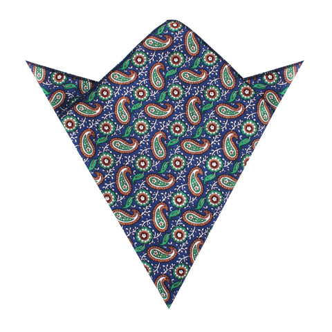 Dora Riparia Paisley Pocket Square