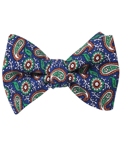 Dora Riparia Paisley Self Bow Tie