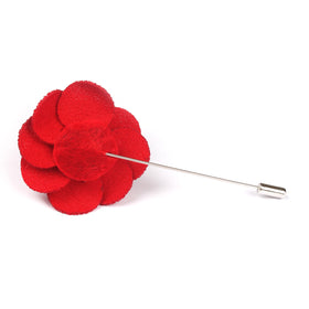 Doriemus Red Flower Pin Front Boutonniere