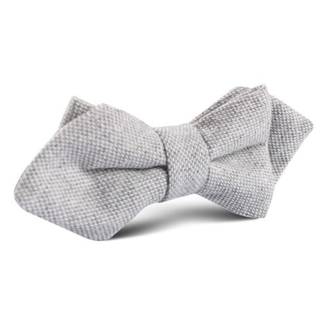 Dry Grey Donegal Linen Diamond Bow Tie