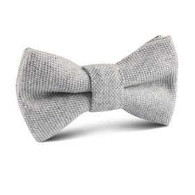 Dry Grey Donegal Linen Kids Bow Tie