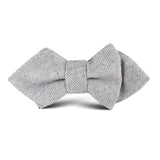 Dry Grey Donegal Linen Kids Diamond Bow Tie