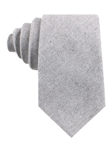 Dry Grey Donegal Linen Tie