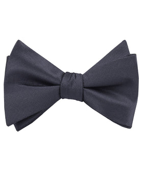 Dubrovnik Charcoal Grey Diamond Self Bow Tie