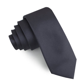 Dubrovnik Charcoal Grey Diamond Skinny Tie