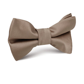 Dune Beige Brown Satin Kids Bow Tie