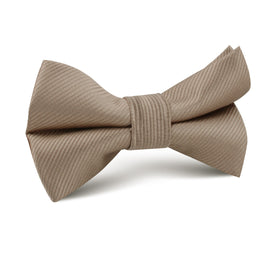 Dune Beige Brown Twill Kids Bow Tie