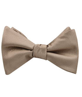 Dune Beige Brown Twill Self Bow Tie