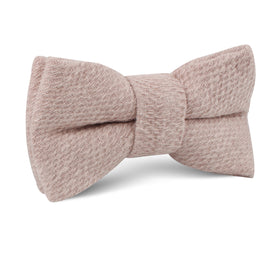 Dusty Beige Pink Linen Kids Bow Tie