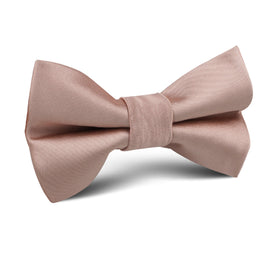 Dusty Blush Crisp Satin Kids Bow Tie