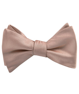 Dusty Blush Crisp Satin Self Bow Tie